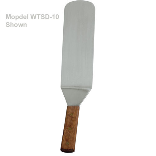 "Update Brown Plastic Handle Solid Flexible Turners - 10"" x 3"" WTSD-10PH"