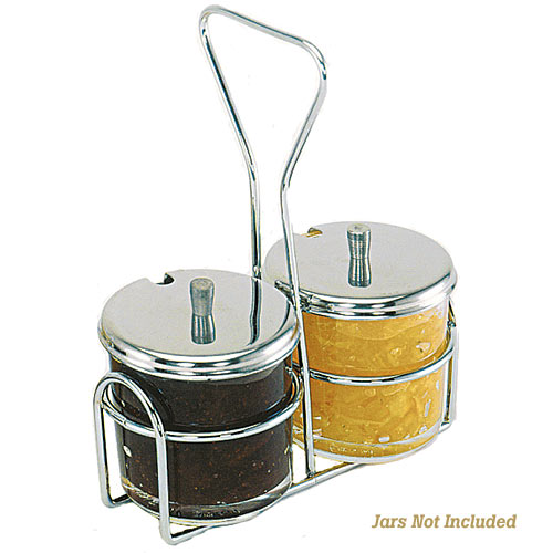 Update Condiment Jar Holder - 2 Holes  CJ-72H