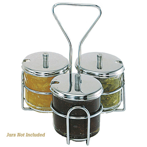 Update Condiment Jar Holder - 3 Holes  CJ-73H