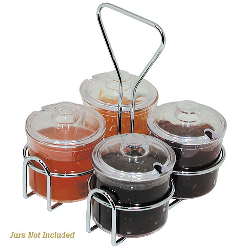 Update Condiment Jar Holder - 4 Holes  CJ-74H