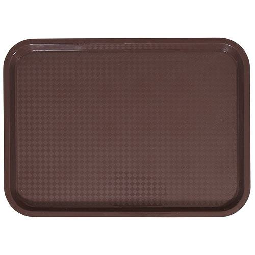 "Update Brown Fast Food Tray - 10"" X 14"" FFT-1014BR"