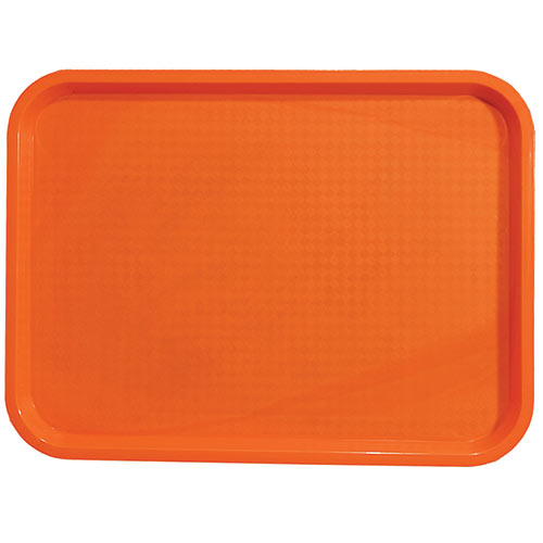 "Update Orange Fast Food Tray - 12"" X 16"" FFT-1216OR"