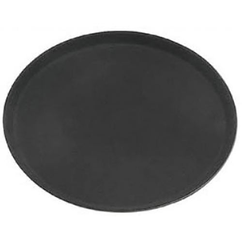 "Update Black Oval Fiberglass Serving Tray - 22"" x 27"" GTFG-2700BK"