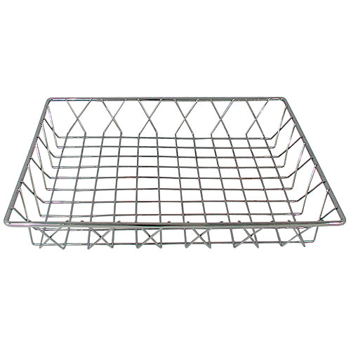 "Update Chrome Pastry Basket - 14"" x 12"" x 2"" PB-1412"
