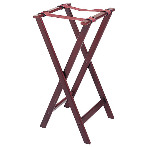 "Update Cherry Wood Tray Stands - 32"" TSW-32"