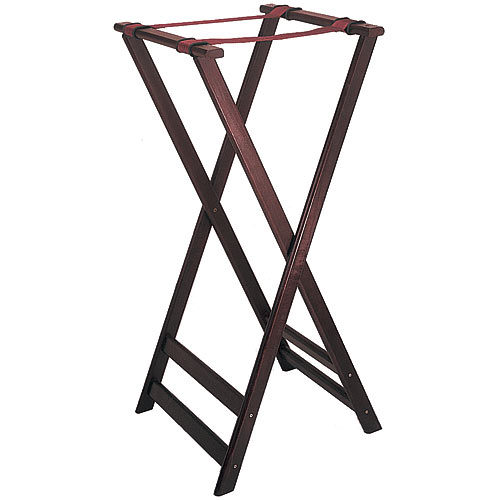 "Update Cherry Wood Tray Stands - 38"" TSW-38"