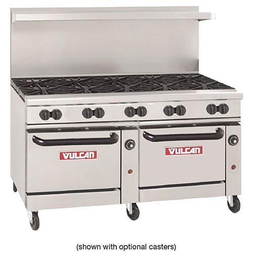 "Vulcan Endurance 60"" Gas Restaurant Range - 10 Burners w/ 2 Standard Ovens 60SS-10B"