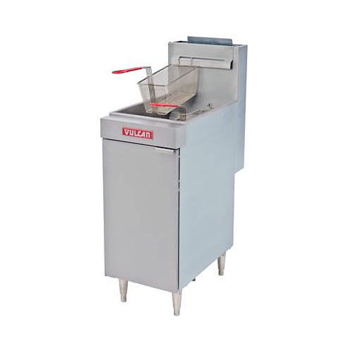 Vulcan LG Economy Free Standing Gas Fryer - 35-40 lbs Capacity LG300