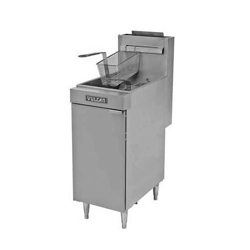 Vulcan LG Economy Free Standing Gas Fryer - 40-45 lbs Capacity LG400