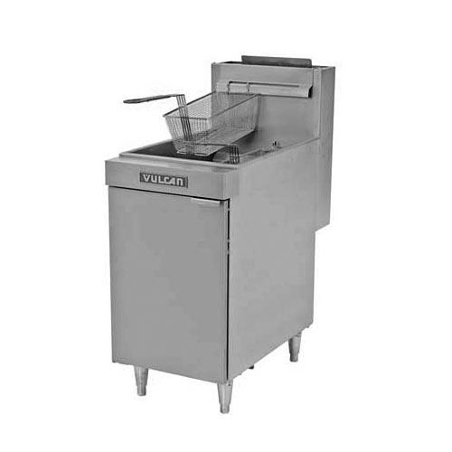 Vulcan LG Economy Free Standing Gas Fryer - 65-70 lbs Capacity LG500
