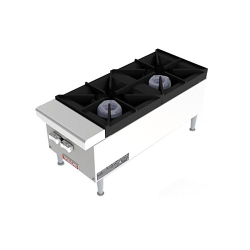 "Vulcan 12"" Restaurant Series Gas Hotplate - 2 Burner VCRH12"
