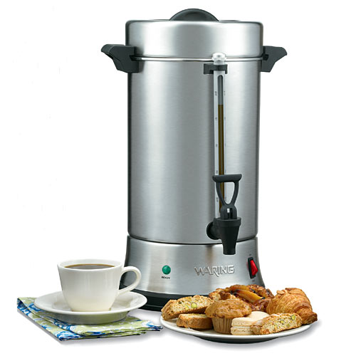 Waring Stainless Steel Coffee Urn - 55-Cup WCU550