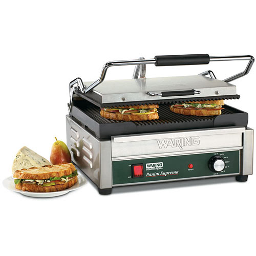 Waring Italian Supremo Large Panini Grill - Grooved WPG250