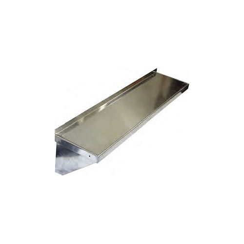"Win-Holt Knock Down Aluminum Solid Wall Shelf - 12"" x 36"" ALWMS-1236"