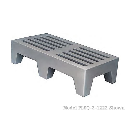 "Win-Holt Plastic Perforated Dunnage Rack - 22"" x 36"" PLSQ-3-1222-GY"