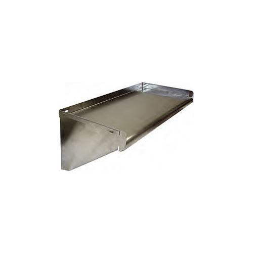 "Win-Holt Knock Down Stainless Steel Solid Wall Shelf - 12"" x 24"" SSWMS122/KD"