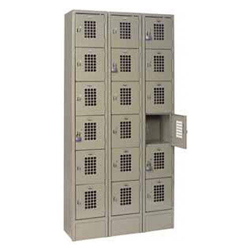 Win-Holt Triple Column Lockers - 6 Tier WL-618
