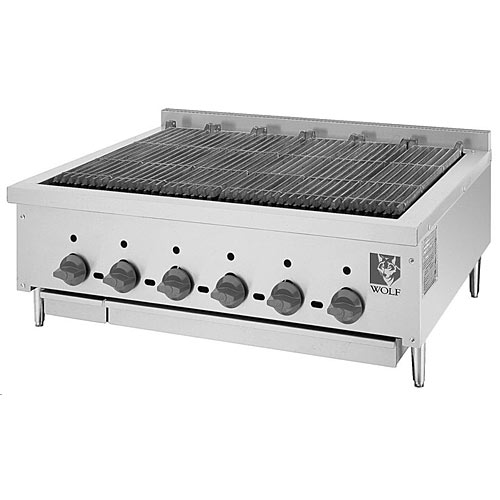 "Wolf 36"" SCB Series Low Profile Gas Radiant Charbroiler SCB36"