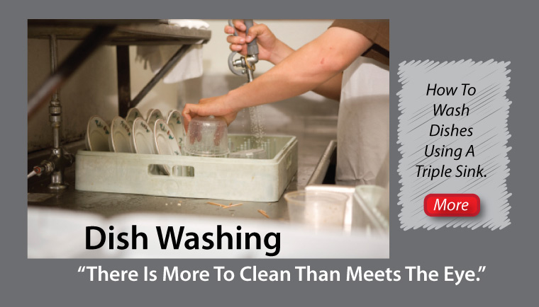How To Wash Dishes in a Triple Sink