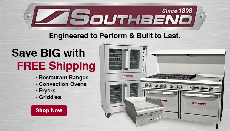 Save BIG with Free Freight on Southbend Cooking Equipment